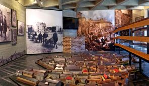 The museum?s model of the Warsaw Ghetto.