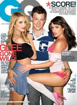 Glee stars in a provocative pose.