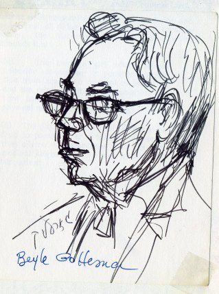 Sketch of Jacob Gorelik by Beyle Schaechter-Gottesman