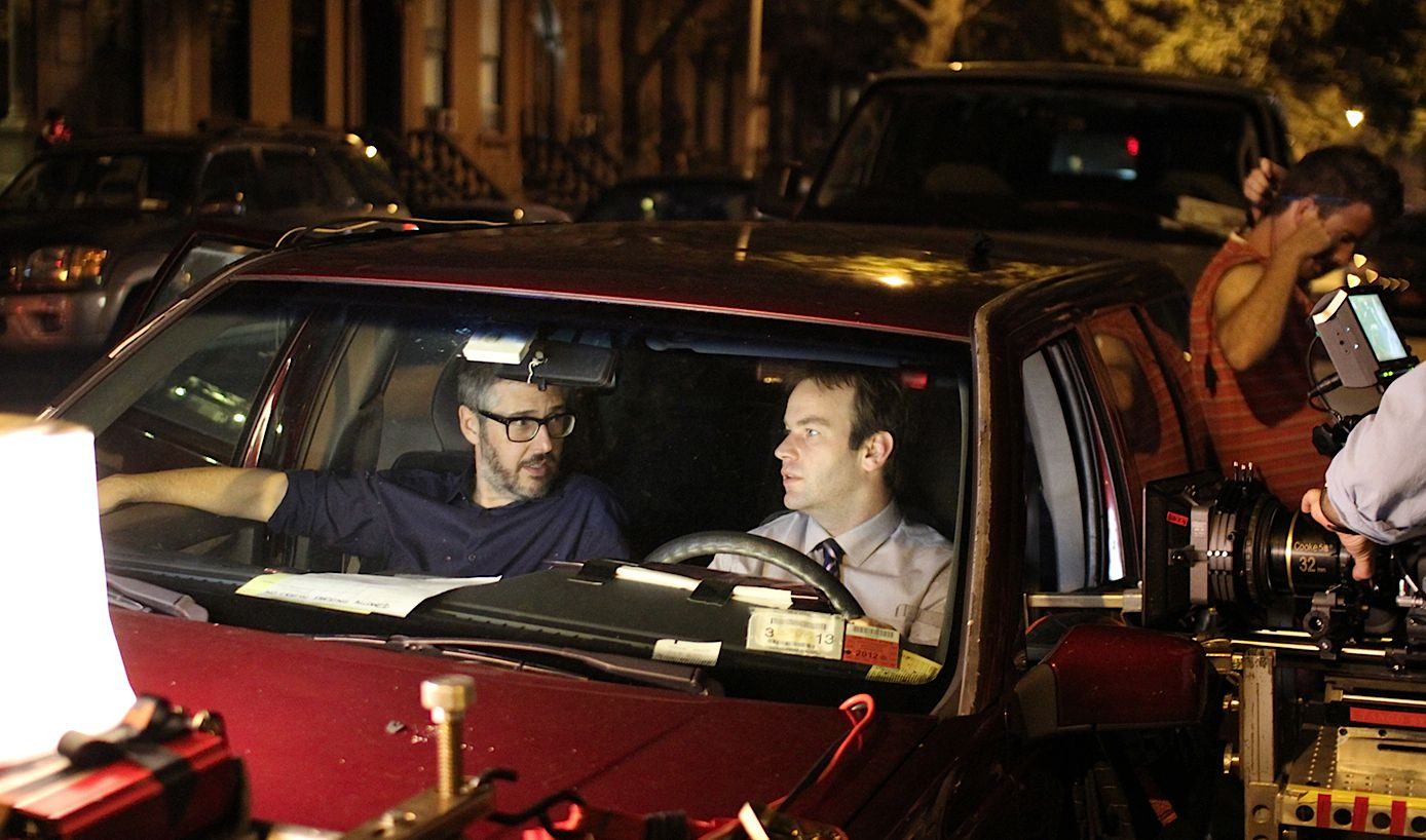Ira Glass and Mike Birbiglia on the set of ?Sleepwalk With Me.?