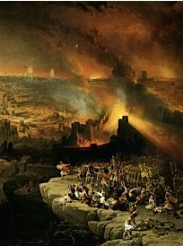 Detail from ?The Destruction of Jerusalem? (1849), lithograph from a painting by David Roberts. Courtesy of Yeshiva University Museum.