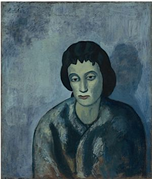 Pablo Picasso, ?Woman With Bangs,? 1902. Courtesy of the Baltimore Museum of Art.