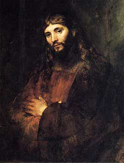 Rembrandt Harmenzoon Van Rijn, ?Portrait of Christ,? c. 1655-57. Courtesy of The Hyde Collection.