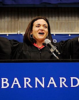 Sheryl Sandberg at Barnard commencement, 2011.
