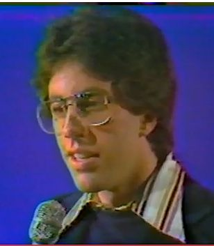 Jerry Seinfeld, in his first national television appearance in 1977.