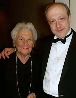 Beate Sirota Gordon and virtuoso soloist Marc-André Hamelin at Carnegie Hall.