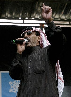 Omar Souleyman at the 16th Sonar Festival in Barcelona in 2009.