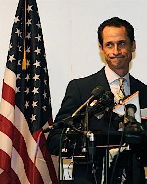 Weiner gives his resignation speech.
