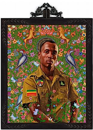 ?Kalkidan? by Kehinde Wiley. Courtesy Roberts & Tilton.