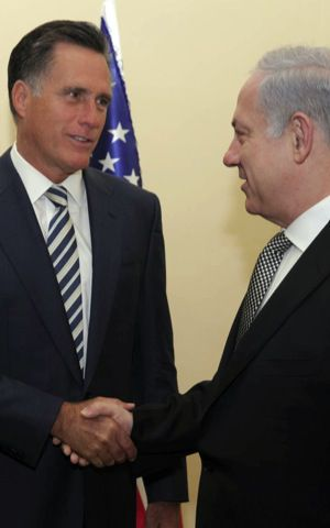 Mitt and Bibi in January 2011.