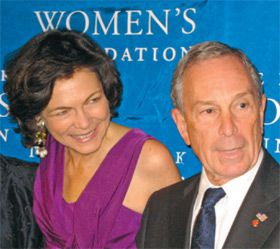 Fight for Rights: Diana Taylor and Mayor Bloomberg at the New York Women?s Foundation dinner.