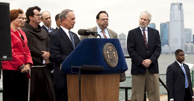 Strong Supporter: New York Mayor Michael Bloomberg, at press conference after city Landmarks Commission approved Islamic center project, has staunchly backed its construction.