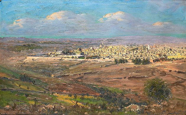 Light and Green: Even the rocks from Jerusalem, Blum?s favorite subject, seem to glow under his encouraging brush.