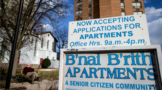 Tarnished Golden Years: Elderly Jewish residents, their numbers dwindling, compain about newcomers at the Abe Cramer B'nai Brith Apartments in Harrisburg.