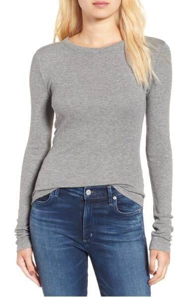BP Ribbed Long Sleeve Tee, $25, shop.nordstrom.com