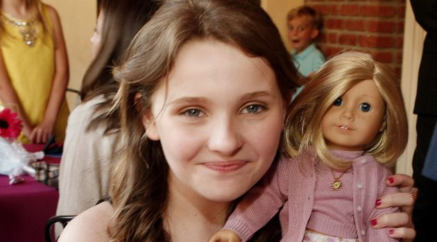 My Girl: The actress Abigail Breslin poses with an American Girl doll.