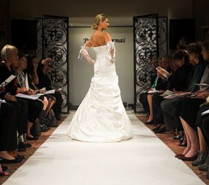 SOMETHING NEW: A gown from Israeli designer Pnina Tornai's 2008 collection presented at a recent fashion show at Kleinfeld Bridal.