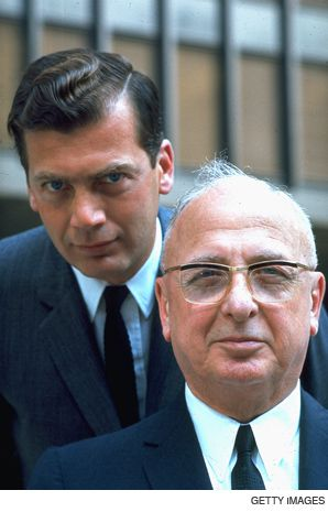DYNASTY: Edgar Bronfman with his father Samuel Bronfman in an undated news photo, probably early 1960s.