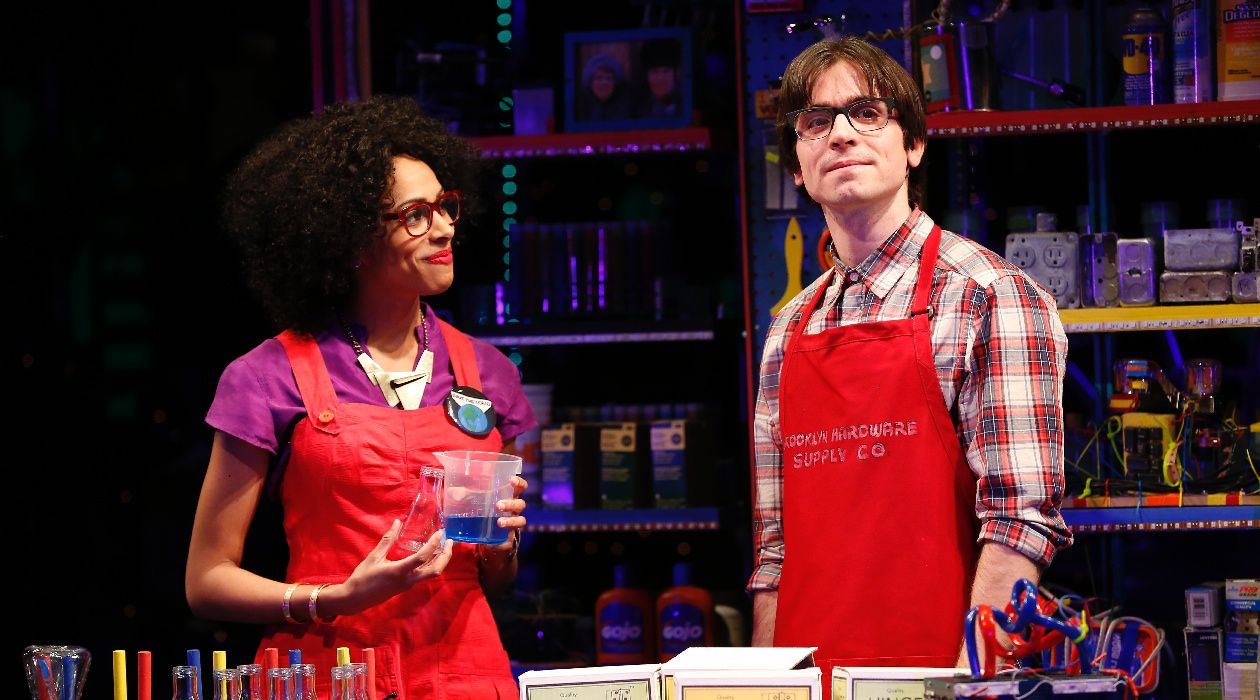 Louder Than a Speeding Bullet: Nicolette Robinson and Matt Doyle in the new musical 'Brooklynite.'