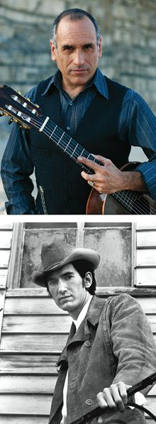 In the Saddle: David Broza (above), sings the poetry of Townes Van Zandt (below).