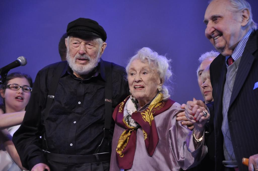 Bridging the Centuries: Bel Kaufman, seen here with Theodore Bikel, was the author of 'Up the Down Staircase' and the granddaughter of Sholem Aleichem.