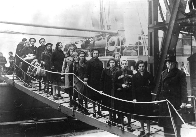 Arrival of Jewish refugee children, 1939.
