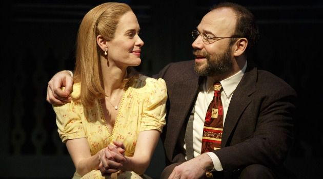 Burstein With Passion: The actor performs a scene with Sarah Paulson in the Roundabout production of ?Talley?s Follly.?