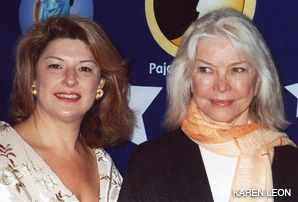 LEADING LADIES: Jackie Teplitzky (left) and actress Ellyn Burstyn attended the Pajama Program?s award luncheon.