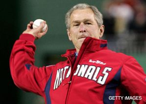 SPECIAL DELIVERY: President Bush throws out the first pitch March 30 at the Washington Nationals' new stadium, replete with two kosher food stands.