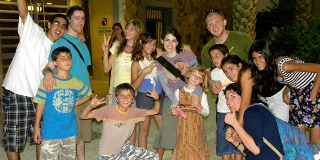 Summer Fun: A group of young people at the Dimona Summer camp pose for the camera.