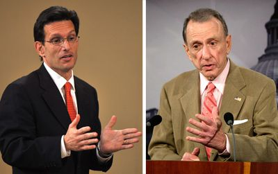 A Tale of Two Republicans: The only GOP Jews now in Congress, Rep. Eric Cantor of Virginia (left) and Sen. Arlen Specter of Pennsylvania (right) hold different political views, but, for different reasons, both wield great clout in Washington.