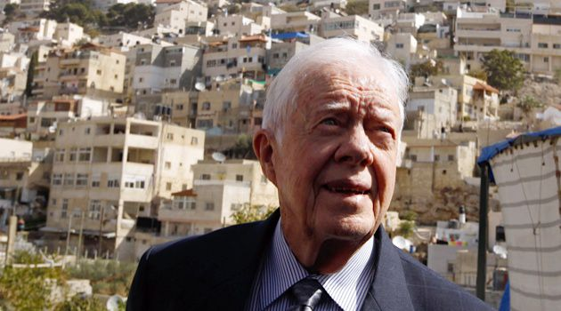 Former President Jimmy Carter visits East Jerusalem in 2010.