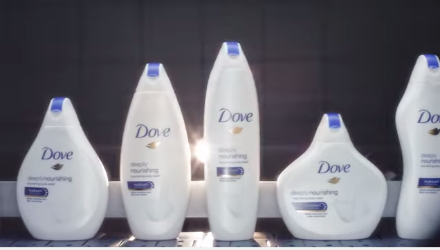 Ad for Dove UK limited edition body wash