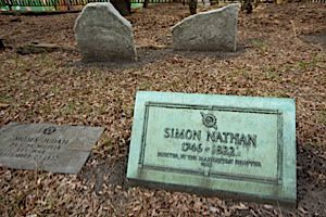 Ancestor: The grave of one of the author?s Sephardic ancestors at the Chatham Square cemetery.