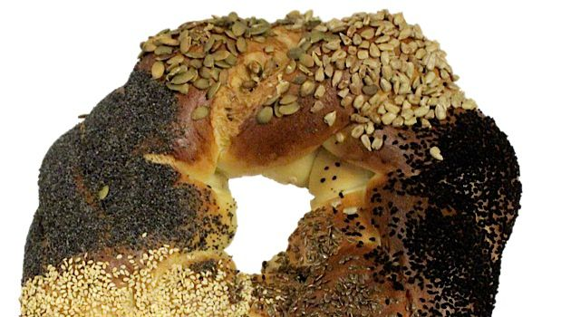 Challah for the Birds: Breads Bakery in New York City tops their stunning festive challah with seven different types of seeds.
