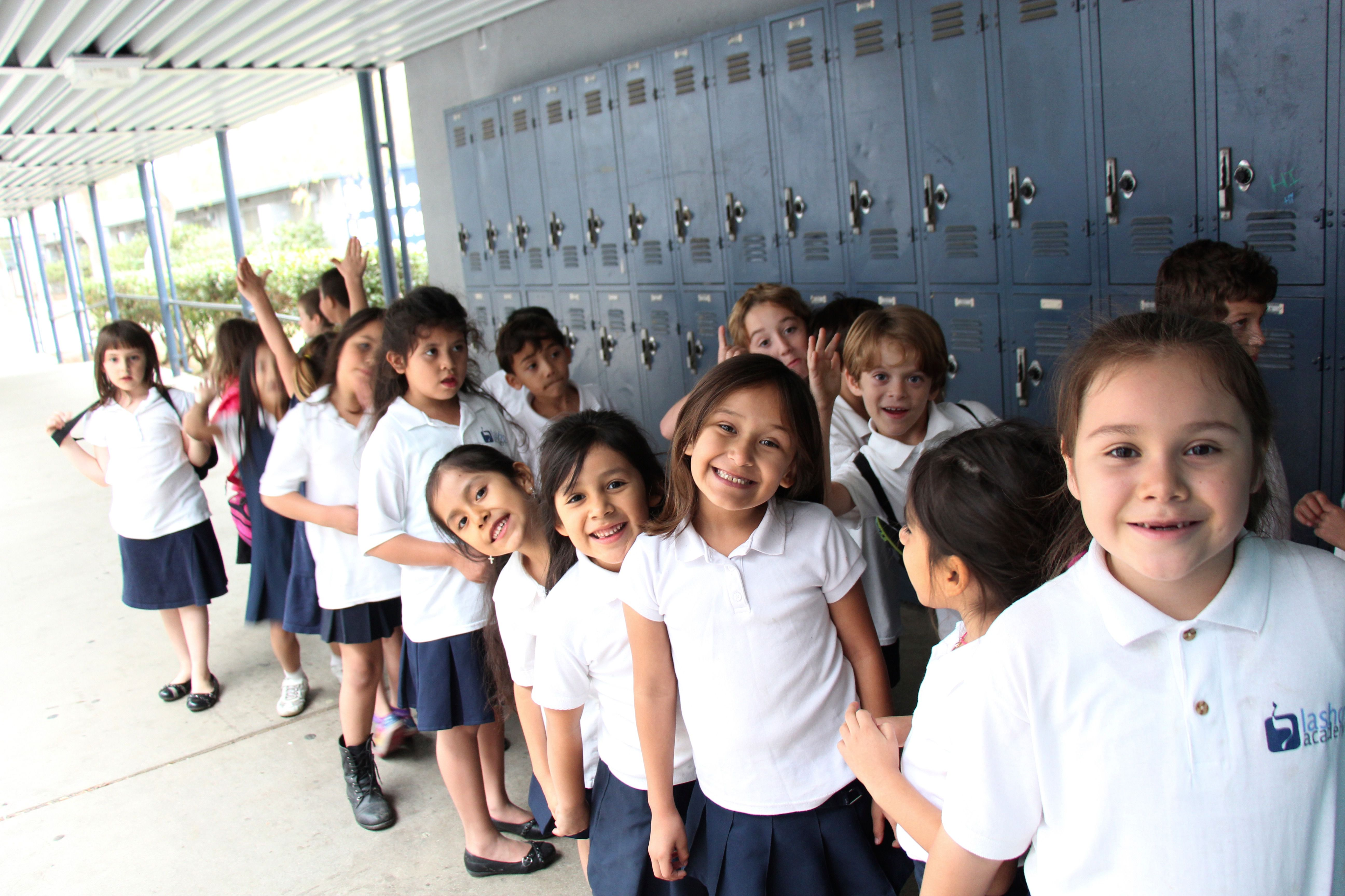 Fresh Faces: Students at the young Lashon Academy, which is entering its third year as a dual-language Hebrew charter school in Los Angeles, California.