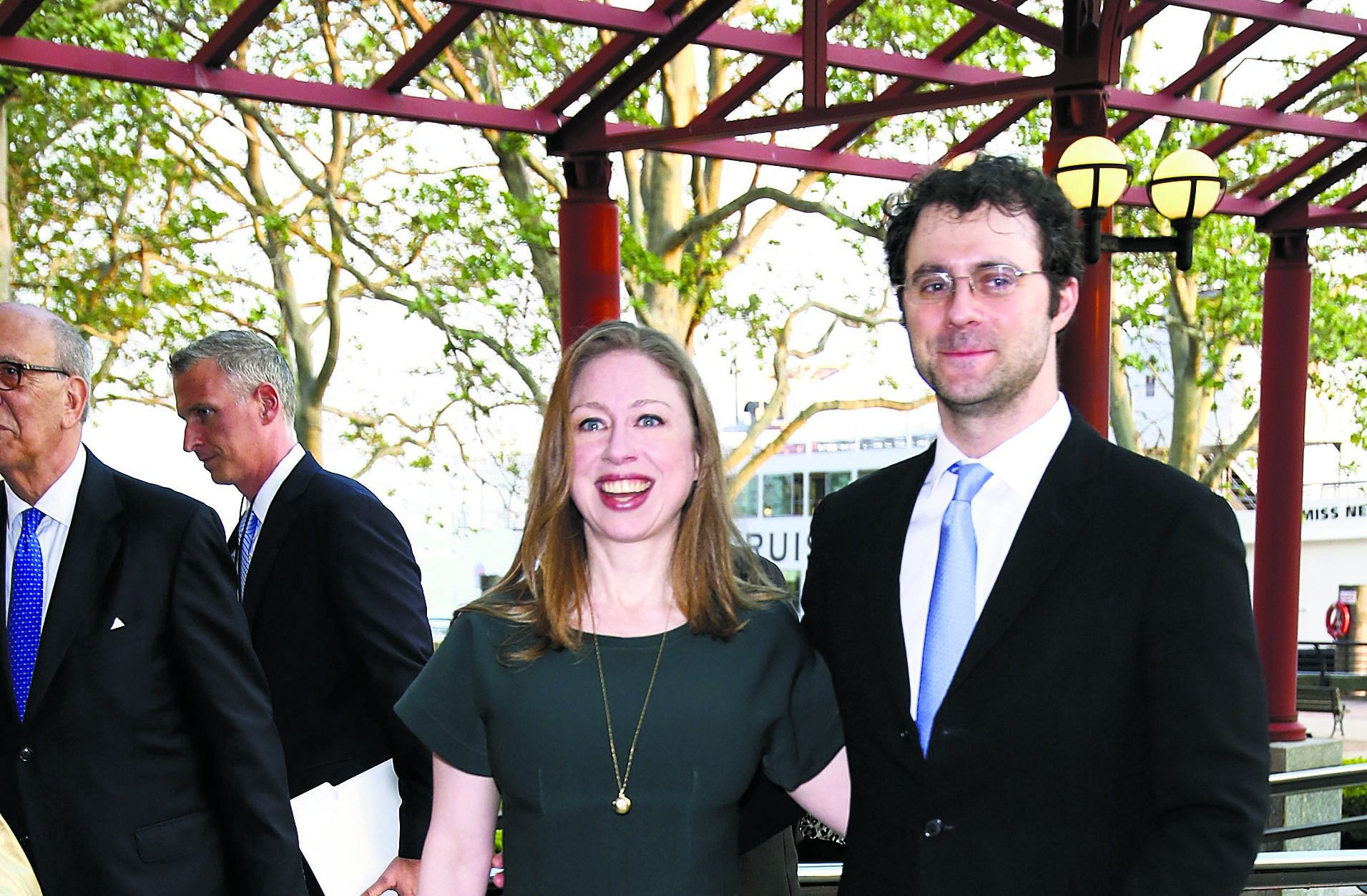 Charity Yes, Politics No: Chelsea Clinton and Marc Mezvinsky attend a gala for the Statue of Liberty-Ellis Island Foundation last May.