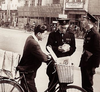 En Route: Matzo delivered by bicycle in Shanghai, 1946.