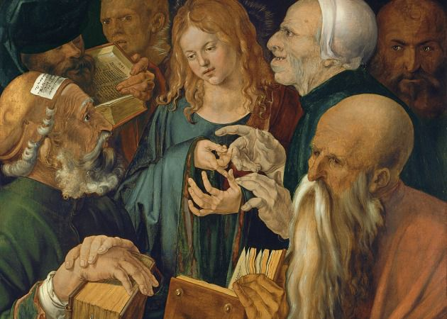 'Christ Among the Doctors' by Albrecht Durer, 1506.