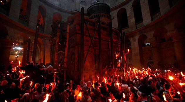 Holy Fire: Christians gather in Jerusalem?s Church of the Holy Sepulchre for prayers. The pro-Israel group CAMERA claims CBS mischaracterized the Christian life in Israel.