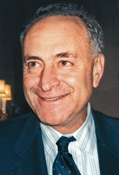 Brainiac: New York Senator Charles Schumer, above, once worked for Stanley H. Kaplan.