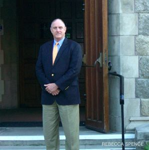 Bacon: The church's rector met with members of a nearby temple to hear their concerns this week.