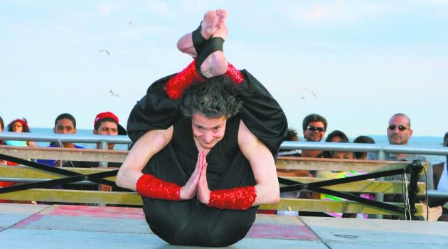 Heels Over Head:  The contortionist known as Amazing Amy has performed at such showcases as ?The Gong Show Live.?