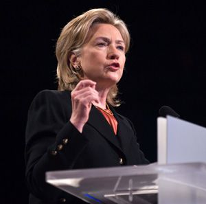 Vowing Friendship: Secretary of State Hillary Rodham Clinton spoke at the conference.