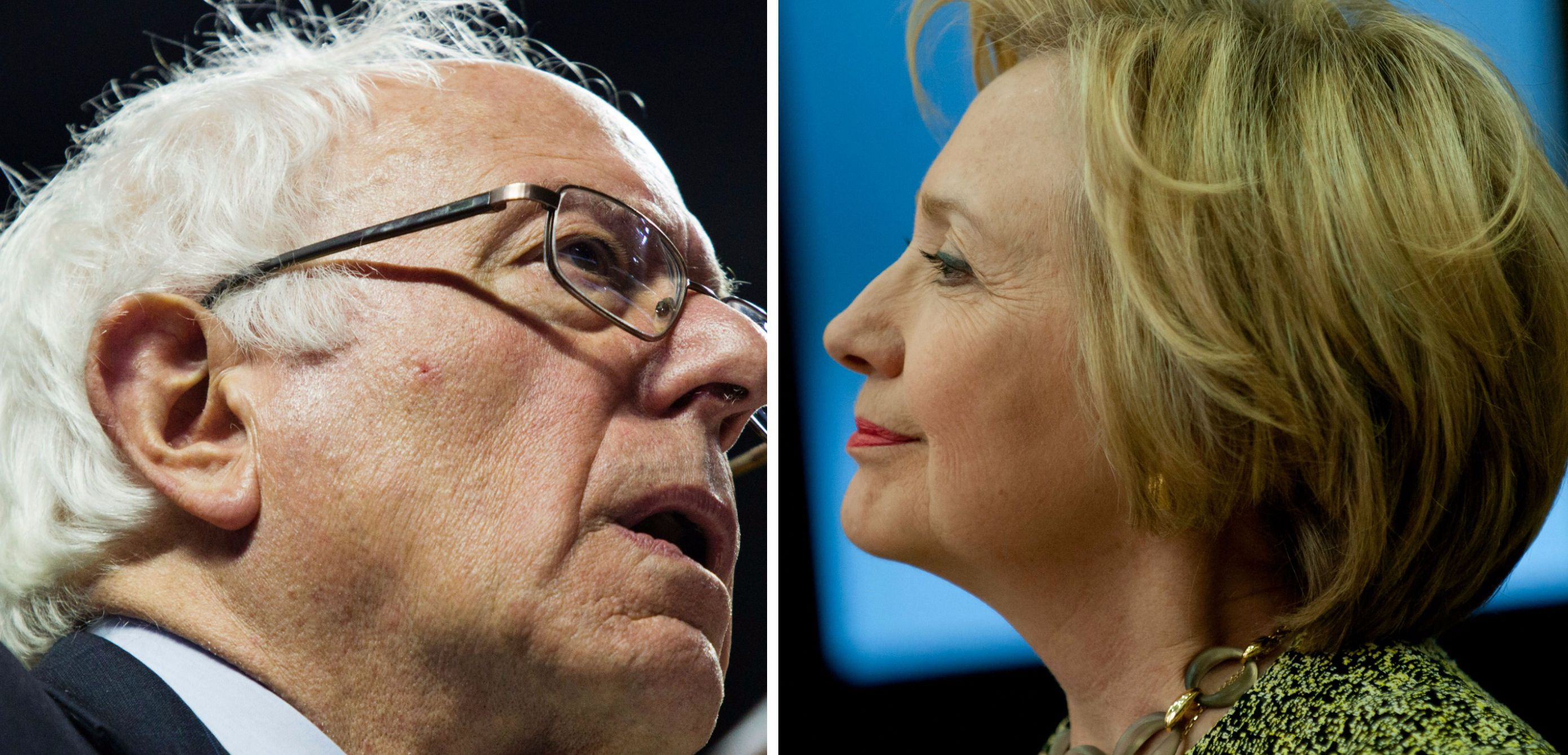 Clinton Sanders Faceoff.