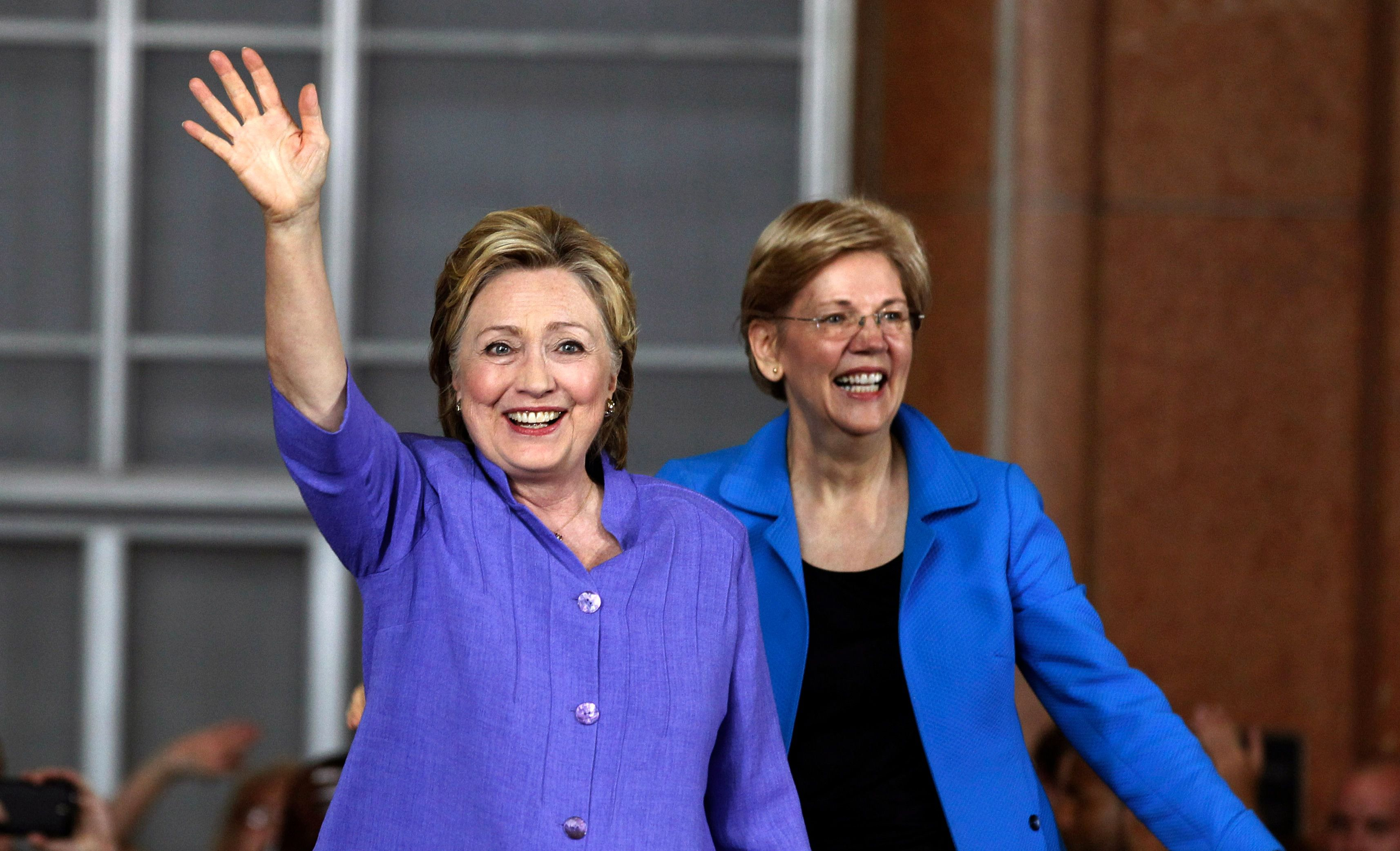 Hillary Clinton (left) and Elizabeth Warren