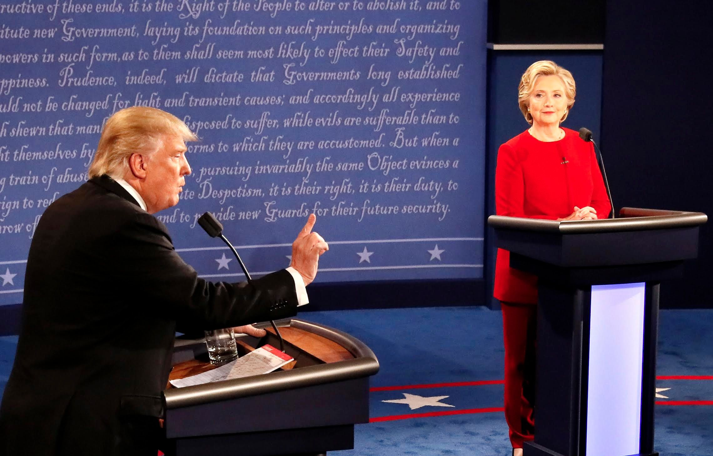 Donald Trump interrupted Clinton 51 times, but those tactics often serve men well.