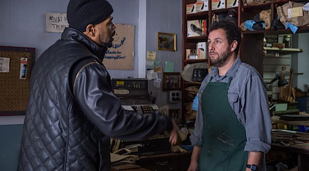 'The Cobbler': After Leon Ludlow (Method Man) drops off his shoes, Max Simkin (Adam Sandler), a disillusioned Lower East Side cobbler, discovers a magical stitching machine in his basement.