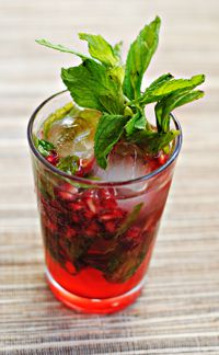 Sukkah Sippin?: A bright and minty Pomegranate Mojito, a tasty drink for Sukkot, is easily made at home.