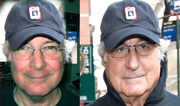 Big Break: Paul Cohen (left), a newspaper ad salesman in New Jersey, was cast as Bernie Madoff (right) in the forthcoming movie.